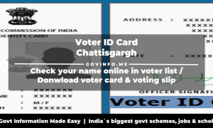 Chattisgargh Voter ID Card download online (election.cg.nic.in)