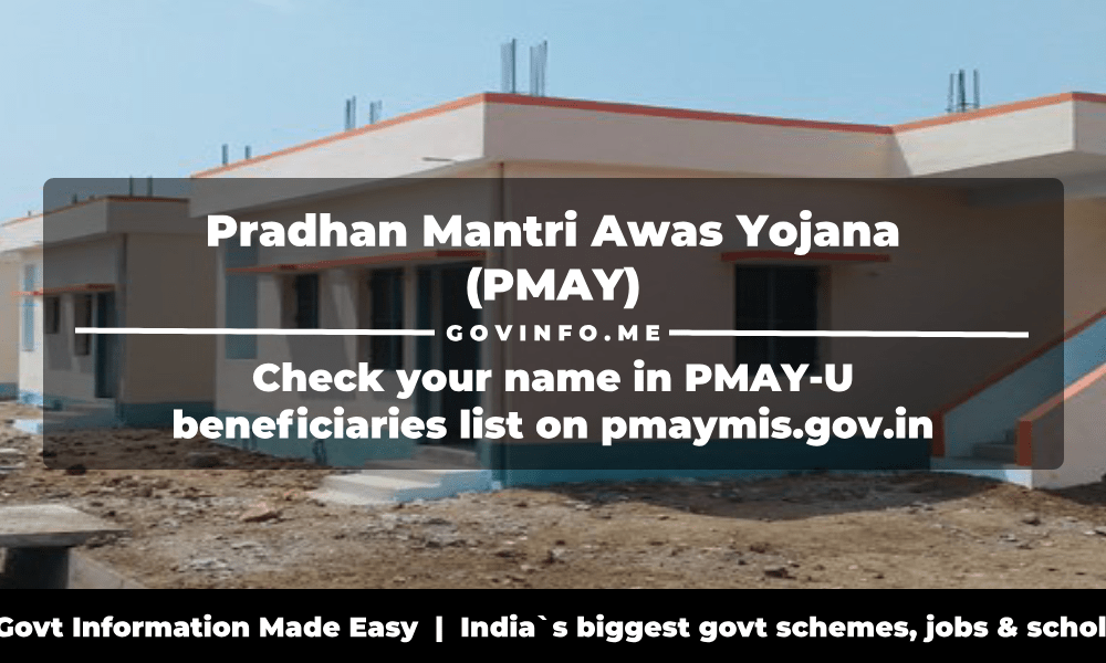 Pradhan Mantri Awas Yojana (PMAY) beneficiaries list