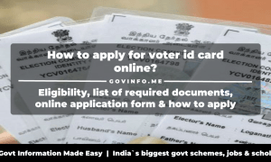 National Voters Service Portal (nvsp.in) - How to apply for voter id card online