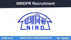 NIRDPR-NERC Guwahati Recruitment 2021