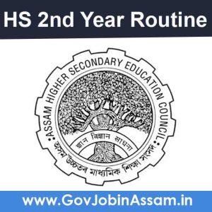 AHSEC HS 2nd Year Routine 2021