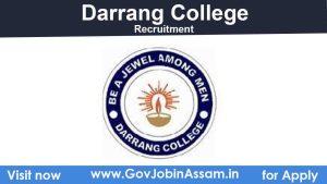 Darrang College Recruitment 2021