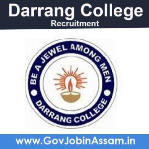 Darrang College Recruitment 2021