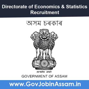 Directorate of Economics & Statistics Assam Recruitment 2021