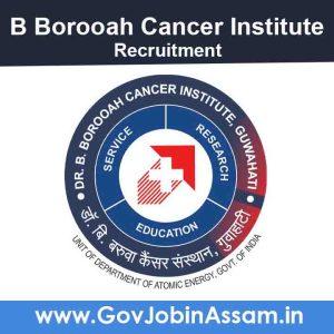 B Borooah Cancer Institute Recruitment 2021