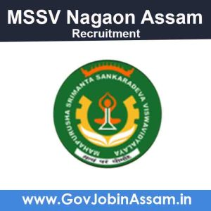 MSSV Nagaon Recruitment 2021