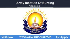 Army Institute of Nursing Guwahati Admission