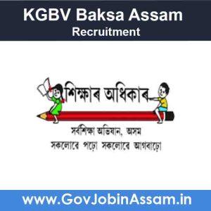 KGBV Baksa Assam Recruitment 2021