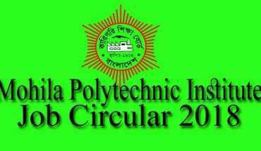 Mohila Polytechnic Institute Job Circular