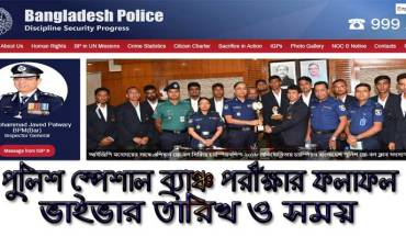 Police Special Branch Job Exam Result