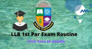 NU LLB 1st part exam routine and seat plan