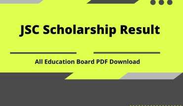 JSC Scholarship Result All Education Board