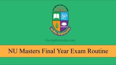 NU Masters Exam Routine