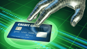 Fake visa credit card with money
