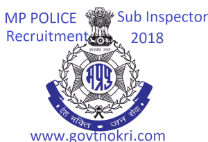 MP Police Sub Inspector Recruitment 2018