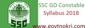 SSC Constable GD Syllabus 2018