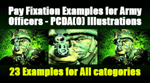 Pay Fixation Examples for Army Officers