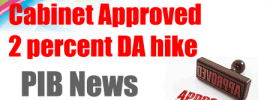 Cabinet Approved 2 percent DA hike