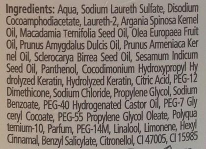gliss shampoo ingredient