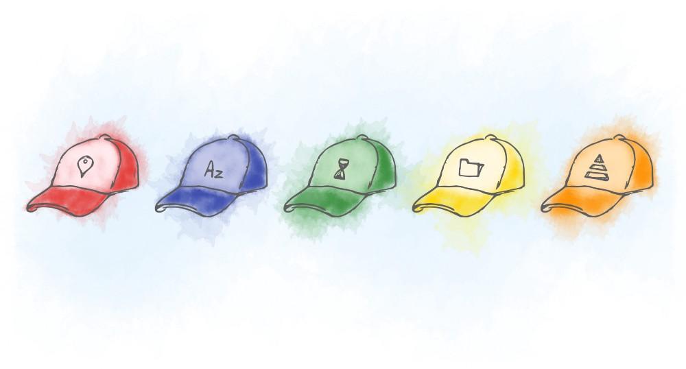 5つの帽子