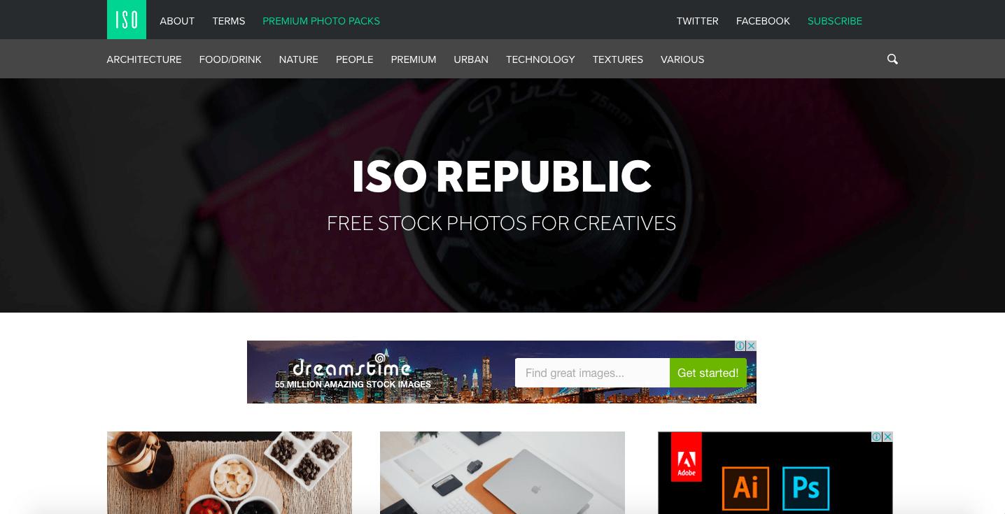 ISO Republic Webサイト