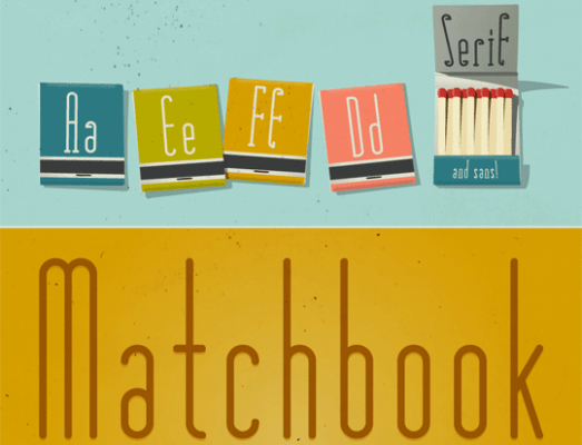 Matchbook Typeface