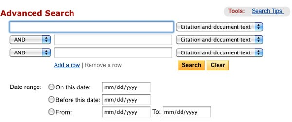 検索ボックス、複合条件検索