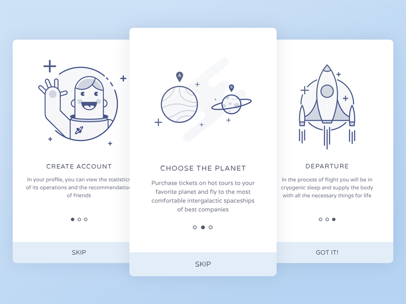 Space onboarding by Sasha Gorosh for LUFT