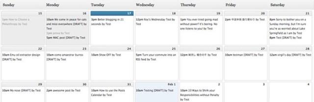 カレンダー系プラグイン