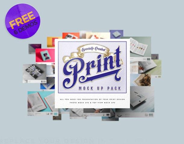 Print MockUp Pack – 6 Demo PSDs