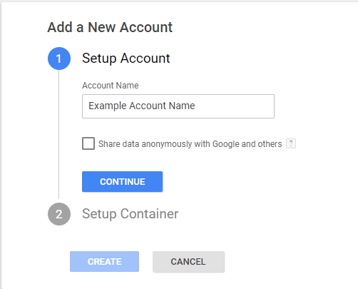 Creating accounts and containers