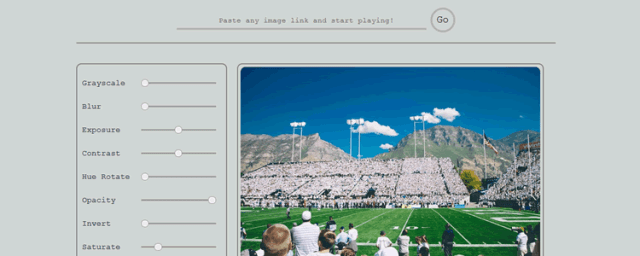 Image Editor with CSS Filters and jQuery