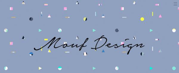 『mouf design』勘村洋和氏のサイトのTOPページ