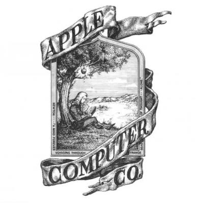 創業当時のAppleロゴ