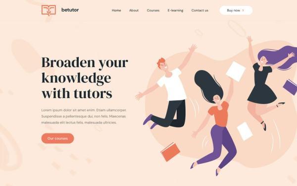 BeTutorのデスクトップWebサイト