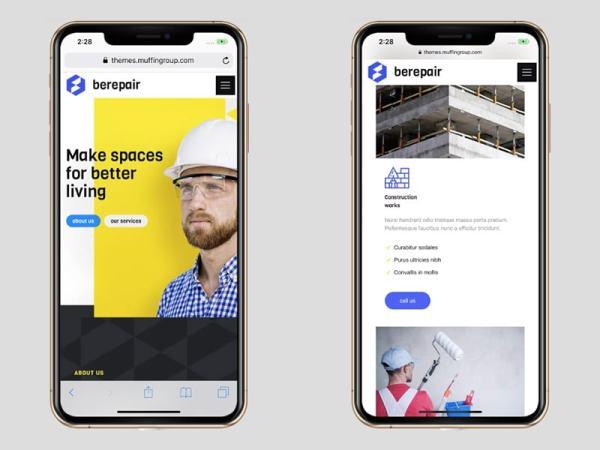 BeRepairのWebサイト
