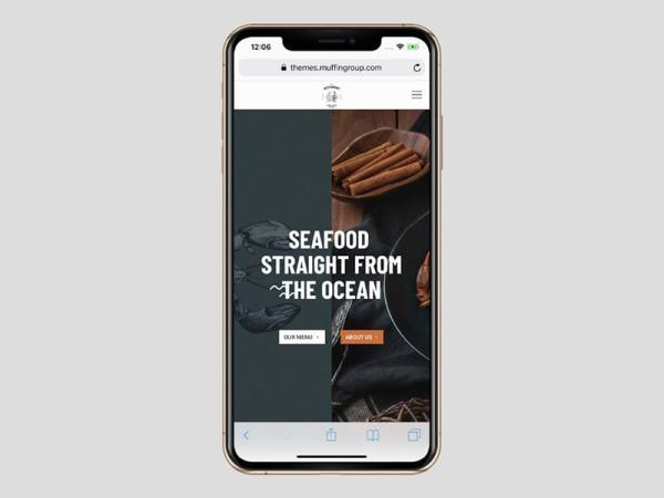 BeRestaurantのモバイルWebサイト