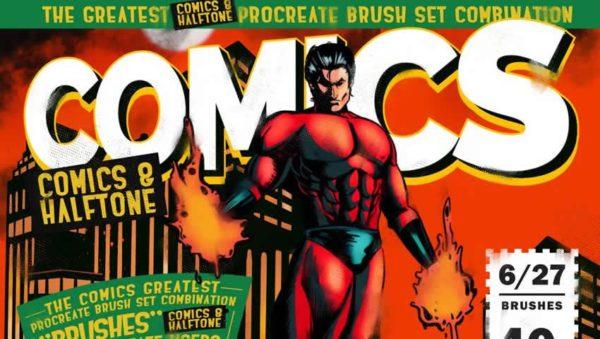 Comics & Halftone Procreate Brushes