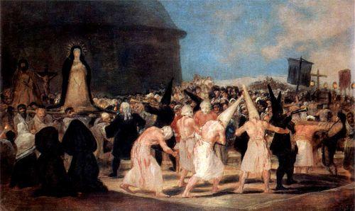 """Procesión de disciplinantes"", de Goya"