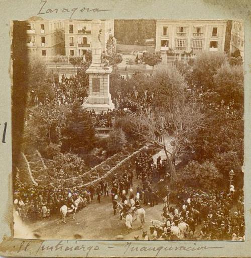 Inauguración monumento al Justicia
