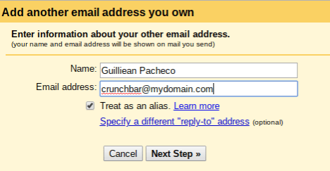 Add another email address you own in Gmail