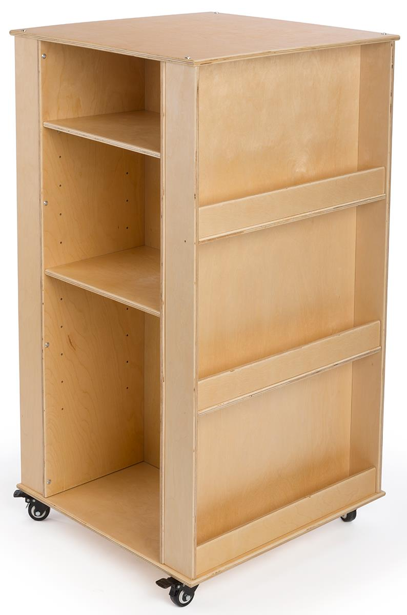 Childrens Mobile Book Stand 4 Sided Baltic Birch