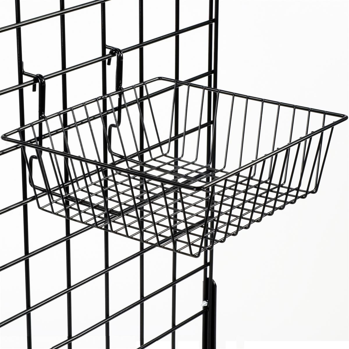 These Gridwall Baskets Are Roomy Holders For Bulk Displays