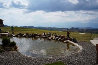Espejo de agua de la posada Altos de Veracruz