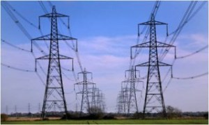 high tension pylons