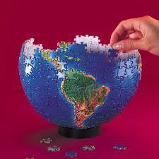 3D earth jigsaw