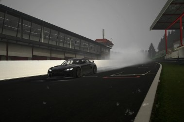 Digital rendering emphasizing that it always rains at Spa-Francorchamps.