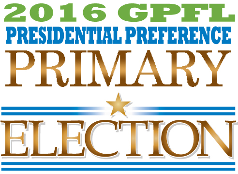2016 GPFL Presidential Preference Primary Banner