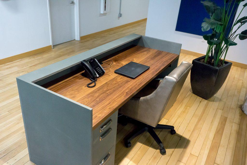custom reclaimed wood and live edge