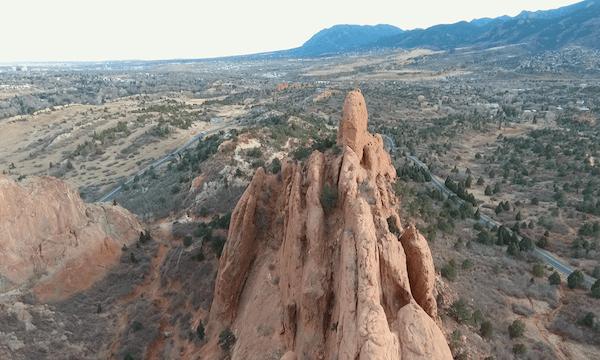 Garden of the Gods – Slight Pan Down Over Rocks